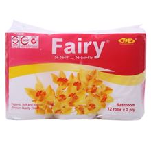 Giấy vệ sinh fairy hồng 12 cuộn có lõi