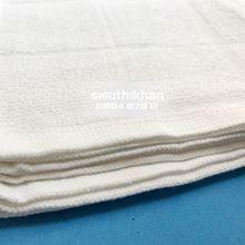Khăn lau cotton kích thước 30x30cm-Khăn trắng trơn 4 ô