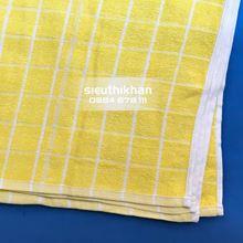 Khăn lau cotton kích thước 28 x 28cm- Khăn vàng 8 ô