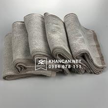 Khăn lau cotton kích thước 17x30cm- Khăn trơn màu nâu